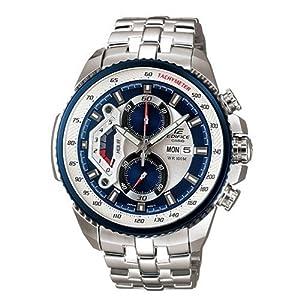 Casio #EF558D-2AV Men's Edifice Stainless Steel Sports Analog Chronograph Watch