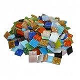 Glasmosaik ~1450 Mosaiksteine 1x1cm 1000g Buntmix