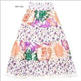花柄 ロングスカート マキシ丈  2WAYスカート ティアードスカート ベアトップ ワンピ フェミニン リゾート スカート フラワー柄