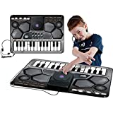 Large DJ Music Style Playmat With 24 touch-sensitive keys, drums pads and DJ scratch disk