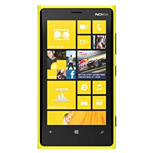 Nokia Lumia 920 Factory Unlocked, 32GB, WP8, 8PM Carl Zeiss -Yellow-