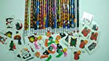(72 PC) Halloween Theme Party Favor Set - 24 Halloween Pencils + 24 Halloween Erasers + 24 Halloween Tattoos