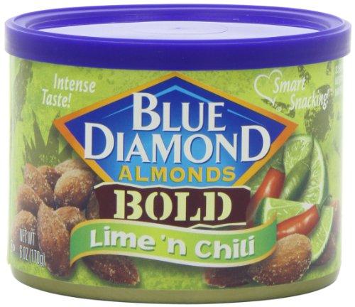 Blue Diamond Bold Lime & Chili Almonds, Can, 6 oz (Blue Diamond Almonds Chili Lime compare prices)