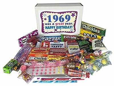 1969 Retro Nostalgic Candy 47th Birthday Gift Basket Box Jr. Born '60s