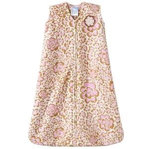 Halo Sleepsack Micro-Fleece Wearable Blanket, Leopard Floral Print, Small