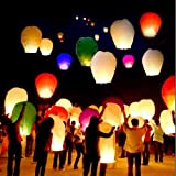 Sport, Fitness, 10 PCS Sky Lanterns Paper Lanterns Chinese Wishing Lantern For Birthday Wedding Party - Muti Color Exercise, Shape, Training