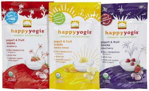 Happy Family happy yogis Yogurt Snacks - Variety Pack - 1 oz - 3 pk