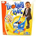 Childrens Shopping Trolley Basket for Toy Shop Kitchen Over 78pcs Play Food