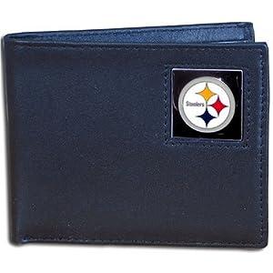 NFL Pittsburgh Steelers Leather Bi-fold Wallet