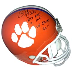 Brian Dawkins Autographed Signed Clemson Tigers Riddell Full Size NCAA Helmet with...