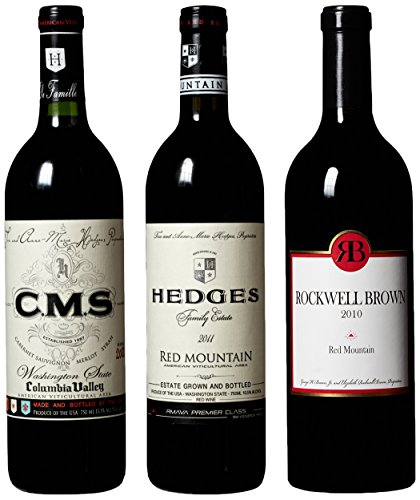 "Hedges Family Estate ""The Red Blends Of Washington State"" Mixed Pack, 3 X 750 Ml"