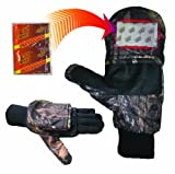 Heat Factory Pop-Top Mittens with Glove Liner for use with Heat Factory Hand Warmers