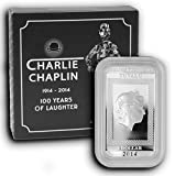 2014 TV Charlie Chaplin 100 Years of Laughter Silver Brilliant uncirculated