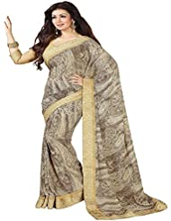 ZHot Fashion Women's Georgette Geometric Printed Saree (ZHSS16987, Multicolor )