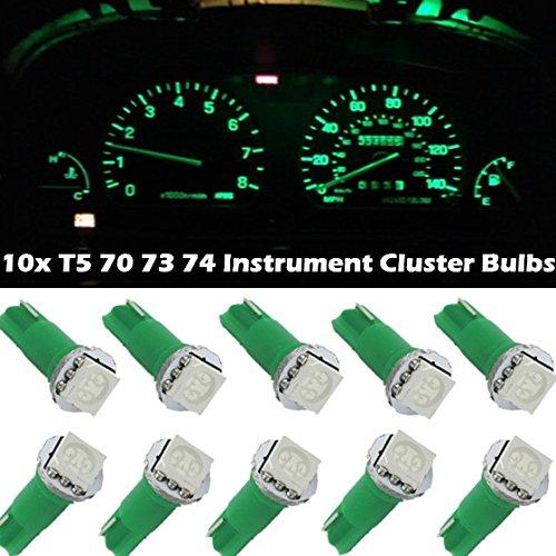 Partsam 10 Green Bright 12V Led Wedge Instrument Panel Light Bulb Lamp 73 74 For Honda For 1996 1997 2003 Chevrolet Tahoe