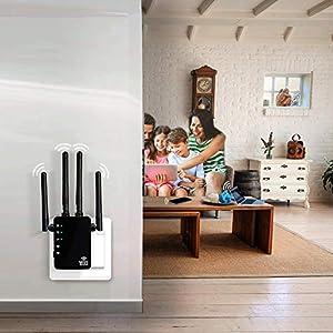 5GHz WiFi Range Extender - 1200Mbps WiFi Long Range Extender Repeater/Access Point/Router Dual Band Wireless Signal Booster & Gigabit Ethernet Port WiFi Range Amplifier 4 External Antennas (Color: 1200Mbps-B, Tamaño: 5G WiFi Range Extender 1200Mbps)
