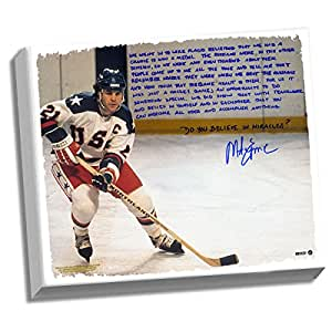 Amazon.com: Mike Eruzione Facsimile 'Miracle' Stretched 22x26 Story