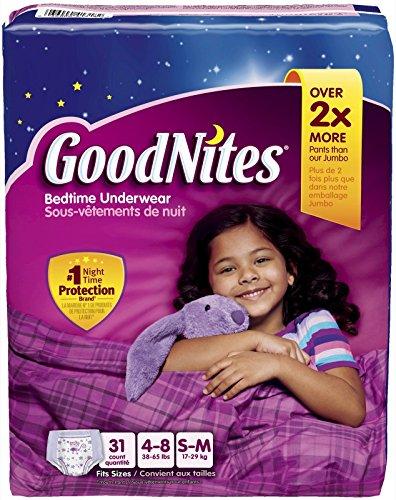 Goodnites Underwear - Girl - Small/Medium - 31 ct - 1