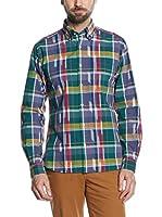 Cortefiel Camisa Hombre (Verde / Multicolor)