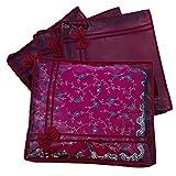 Indi Bargain Maroon Non Woven Designer Saree Cover Set of 4