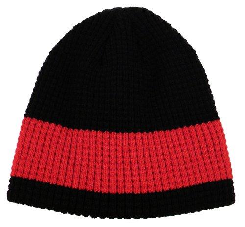 Lots Of 2 Pcs Unisex, Winter Fleece, Knit Eco Beanie - Two-Color Stripes