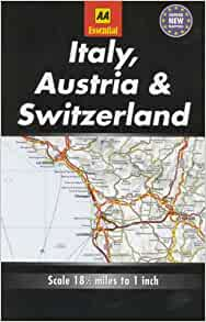 Essential Road Map Italy, Austria and Switzerland (AA