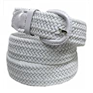 Luxury Divas White Braided Elastic St…