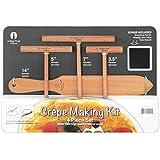 Indigo True Company Beechwood Crepe Spreaders and Spatula, Premium Crepe Making Kit - 4 Piece Set (7-inch, 5-inch, 3-1/2-inch Tools and 14-inch Spatula)