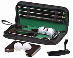 Foldable Executive Golf Set for Office Home Indoor Golf Play Set Golf Ball Club Putting Hole Set with Leather Pouch Ideal For GIFTING or Personal Use PREMIUM QUALITY Golf Set Home Putting Practice