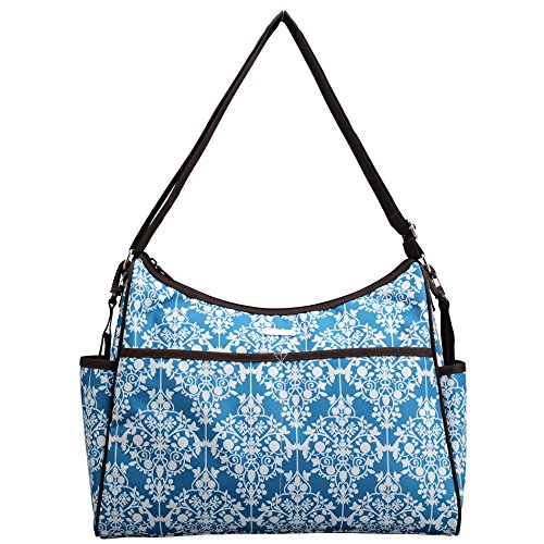 Bellotte Textured Diaper Bag, Blue - 1