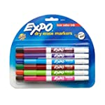 Expo 2 Low-Odor Dry Erase Markers, Fi...