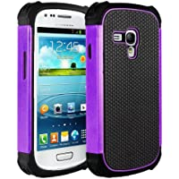 M-Zebra Hybrid Armor Defender Protective Case Cover (Hard Plastic with Soft Rubber Silicon) for Samsung Galaxy...