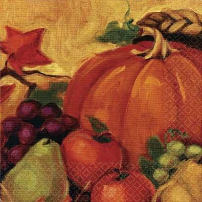 Harvest Still Life Lunch Napkins 16ct