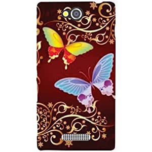 Sony Xperia C Butterflies Matte Finish Phone Cover