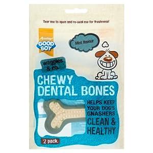 Armitage Good Boy Waggles & Co Dog Treats Chewy Dental Bones - Mint