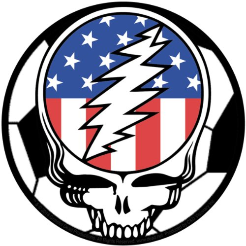 Licenses Products Grateful Dead US Flag-Soccer Sticker