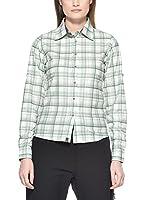 Salewa Camisa Mujer Molignon Pl W L/S Srt (Blanco / Verde)