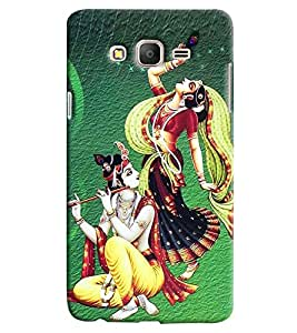 Clarks Radha Krishna Hard Plastic Printed Back Cover/Case For Samsung Galaxy On 5