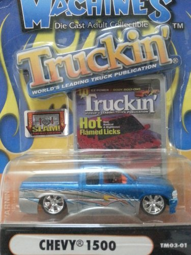 Muscle Machines Truckin' Blue and Silver Chevy 1500 - 1