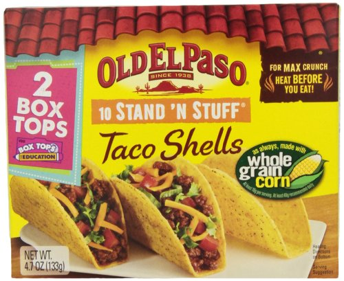 Old El Paso Stand 'n Stuff Taco Shells, 133 Grams Boxes (Pack of 12)