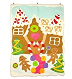 Gingerbread Advent Calendar with Felt Appliqué