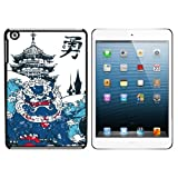 Chinese Dragon Waves and Pagoda Snap On Hard Protective Case for Apple iPad Mini - Black