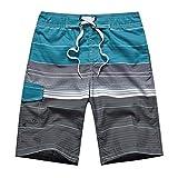 APTRO(アプトロ)メンズ サーフパンツ ショーツ メッシュインナーサポータ付き 水着 海水パンツ 海パン オシャレ ゴムウエスト サーフトランクス #1506ブルー 2XL