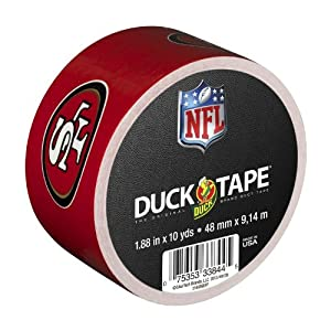 Duck Brand 240495 San Francisco 49ers NFL Team Logo Duct Tape, 1.88-Inch by 10 Yards, Single Roll