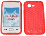 SDK- Smart Diamond Pattern Super Gel TPU Case Cover For Your Samsung Star 3 Duos GT S5222 S5220 In Peachy Orange..Other Amazing Colours Available!