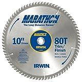 IRWIN Tools MARATHON Carbide Table / Miter Circular Blade, 10-Inch, 80T (14076) (Tamaño: 10