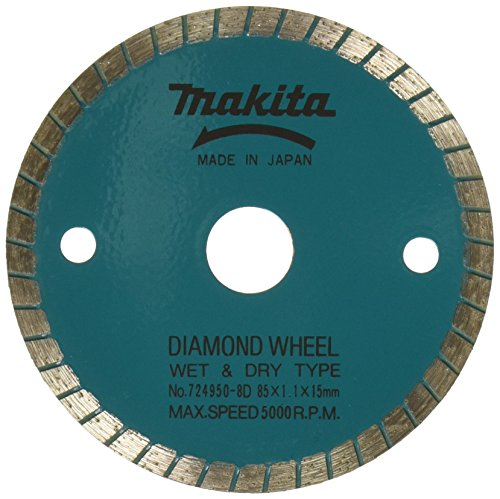 Makita 724950-8D 3-3/8-Inch Wet Cutting Diamond Saw Blade with 15-Millimeter Arbor for Cutting Stone or Masonry (Makita Wet Saw compare prices)