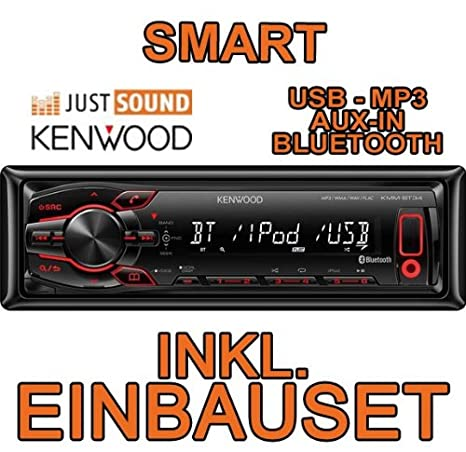 Smart 450-gris-kenwood kMM bT34/mP3/uSB avec kit de montage autoradio avec bluetooth