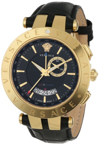 Versace Men's 29G70D009 S009 V-RACE Round Yellow
