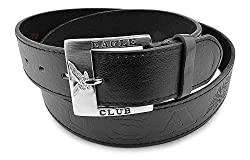 Moda Di Raza - Men's Genuine Leather Belt - Eagle Club - Black/XL